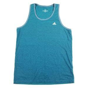Mens Adidas Clima Cool Blue Workout Tank Size M